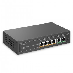 MokerLink 4 Port PoE Switch with 2 Uplink Ethernet Port